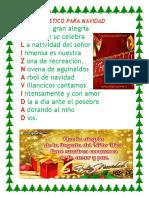 Acrostico Para Navidad