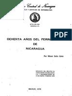Ochenta Años Del Ferrocaril de Nicaragua