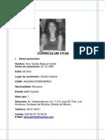 Curriculum Vitae Ana