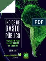 Índice de Gasto Público en Latinoamericana 2010 2017