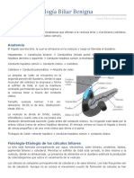 Resumen Patología Biliar Benigna