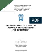 Informe 2. Dureza