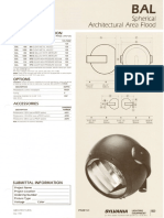 Sylvania BAL Spherical Architectural Flood Spec Sheet 5-80