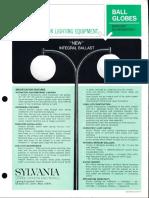 Sylvania Ball Globes Series Spec Sheet 12-67