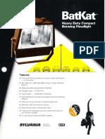 Sylvania BatKat HID Floodlight Series Spec Sheet 2-83