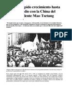 SR 4 - El Más Rápido Crecimiento Hasta Hoy Se Dio Con La China Del Presidente Mao Tsetung