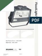 Sylvania FDL HID Floodlight Spec Sheet 1-87