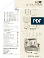 Sylvania HDF Heavy Duty HID Floodlight Spec Sheet 6-82