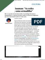 """Zygmunt Bauman """"As redes sociais são uma armadilha.pdf"""