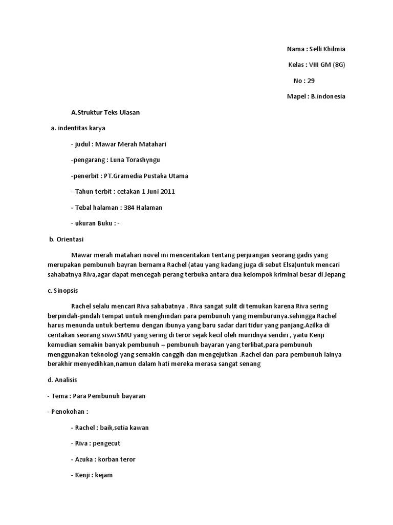 Merah mosaik mawar pdf novel
