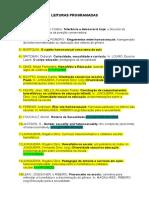 Leituras programadas.doc