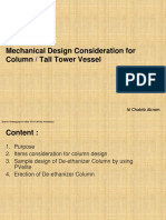 Column Vessel Design Consideration