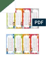 Tablas de Multiplicar Para La Mesa 3 y 4