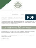 Creamy Coconut Vegetarian Korma | The Endless Meal