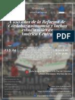 Coloquio a Cien Años de La Reforma de Córdoba II