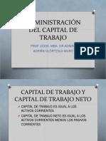Administracion Del Capital de Trabajo 4564