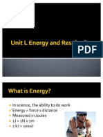 Unit L Energy and Respiration