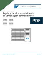 0124587aire de Ventana Intalacion