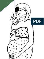 Mujer Embarazada Feliz Colorear
