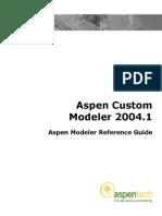 ACM Aspen Modeler Reference