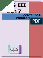 2017 Pss III Conteúdos Programáticos