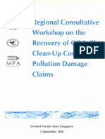 Regional Consultative Workshop on the Recovery of Oil Spill Clean-Up Costs and Pollution Damage Claims