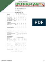 Rotary Kiln, Technical Data