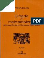 Cidade e Meio Ambiente - Percepções Em São Paulo, Pedro Jacobi