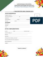 Formulario de Inscripción Miss Unasam 2018