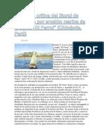 Situación Crítica Del Litoral de Chimbote Por Erosión Marina de La Bahía