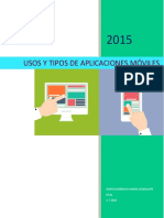 Usos y Tipos de Aplicaciones Moviles
