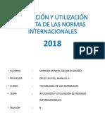 Aplicación y Utilización Directa de Las Normas Internacionales