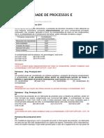 Confiabilidade de Processos e Produtos