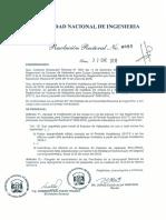 Resolucion Rectoral UNI 0085