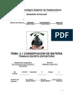 Rsm-2.1 Conservacion de La Materia