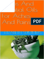 Herbs and Essential Oils for Aches and Pains