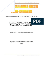 Plan General de Manejo Forestal - CCNN Mariscal Caceres