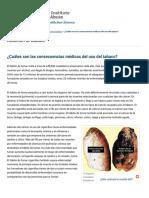 Cuales Son Las Consecuencias Médicas Del Uso Del Tabaco National Institute on Drug Abuse (NIDA)