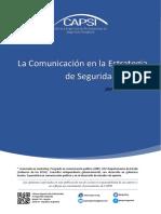La Comunicacion en La Estrategia de Seguridad Publica