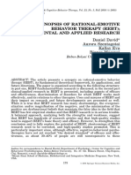 A Synopsis of Rational-emotive Behavior Therapy (Rebt), David, Szentagotai, Kallay, Macavei