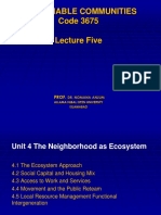 Sustainable Communities Lecture Five