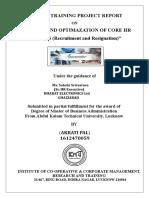 ANALYSIS AND OPTIMAZATION OF CORE HR PROCESS (Recruitment and Resignation).doc