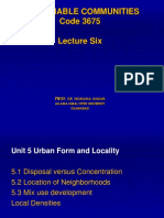 Sustainable Communities Lecture Six