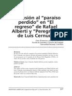 Paraíso perdido y  El regreso de Rafael Alberti