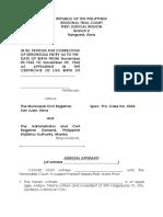 Judicial Affidavit Spec Pro