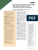 Ensayo clínico aleatorizado en pacientes con cervicalgia mecánica en atención primaria terapia manual frente a electroestimulación nerviosa transcutánea.pdf