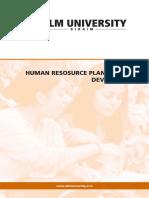 Human Resource Planning Development
