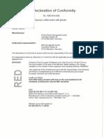 EU- Declaration of Conformity CTES33W Coffee Maker