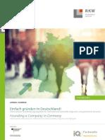 Broschuere Einfach Gruenden in Deutschland Data