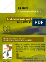 Prohibited Acts and Penalties